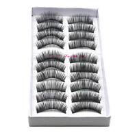 10 Pair ly Soft False Eyelash Eyelashes Eye Lashes Makeup Long  Sale NICE