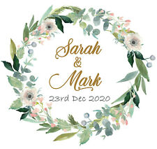 Personalised Wedding Celebration Stickers Labels GLOSS MATT in 24 & 35