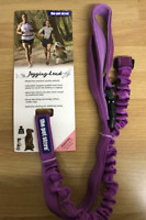 "JOGGING LEAD ""PURPLE"" DOG LEAD HANDS FREE WALKING RUNNING WAIST BELT REFLECTIVE"