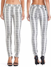 $198 NWT 7 SEVEN FOR ALL MANKIND JEANS HOUNDSTOOTH CHECKED PLAID SKINNY 26 X30