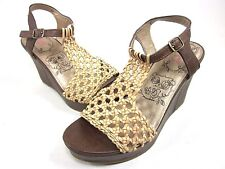 JELLYPOP, DAHL WEDGE SANDAL, WOMENS, PLASTIC, TAN, US 8M, NEW WITHOUT BOX