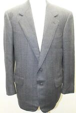 Ermenegildo Zegna HarryRosen Men Blazer Tweed Wool 40R Spain Charcoal Gray Plaid