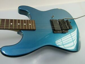 E-Gitarre JACKSON CHARVEL Strat Kopie blau metallic wenig gespielt