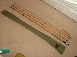 Excellent Hardy Brothers, Rogue River, Palakona, 10', 3pc, Split Cane Trout Rod.