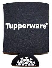 Tupperware Koozie Black and White Beverage Drink Holder