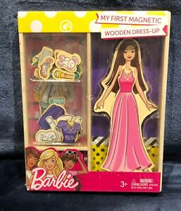 Rare Asian Barbie My First Magnetic Wooden Dress Up 23 Piece Doll Set NEW