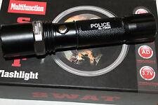 3 x SWAT-FEUERWEHR-LED-TASCHENLAPE-ZOOM- 1000m LEUCHTWEITE INCL. 2X POWER AKKU