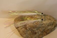 2 Pack Of Glass Minnow Flies Tied On #2 Hooks Great For Saltwater Fish