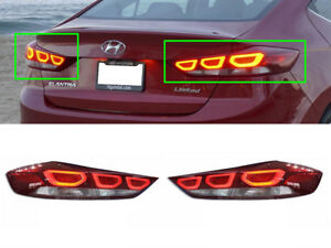 Genuine Rear LED Tail Light Lamp Set (Fits: HYUNDAI 2017-2018 Elantra Avante AD)