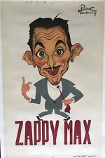 Original Vintage Poster Zappy Max by ROBERT MAUDOUIT 1947