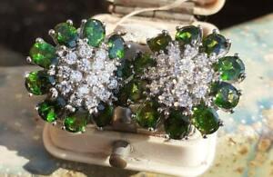 Boucles d'oreilles argent massif poinçons et pierres fines semi précieuses