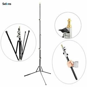 240cm Photography Light Stand Multifunctional Folding Compact Flash Stand Tripod