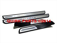 2007-2012 Nissan Altima Front & Rear Door Sill Aluminum Kick Plates Black OEM
