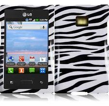 For LG Optimus Logic L35G Dynamic L38G HARD Case Phone Cover Zebra accessory