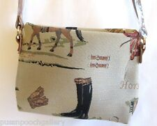 """Tapestry Signare """"Horse"""" Themed Crossbody Bag - Pouch"""