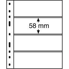 331859 Leuchtturm Hüllen OPTIMA 4S, 4er Einteilung, schwarz, 10er Packung