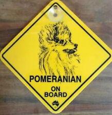 12cm Roadsign Schild mit Saugnapf POMERANIAN Spitz ZwergspitzWarnschild Hund