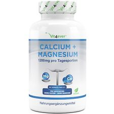 Calcium + Magnesium - 360 Tabletten - 1200 mg pro Tag - Vegan - Hochdosiert