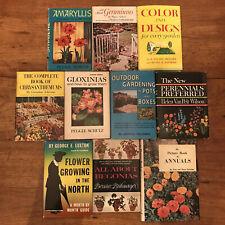 10 Vintage Gardening Books Annuals Perennials Design Geraniums Pots Boxes