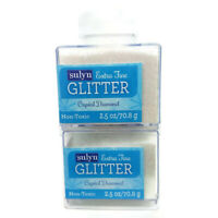 Sulyn Extra Fine Glitter Crystal Diamond 2.5 oz Container Lot of 2 Free Shipping