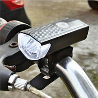 USB Rechargeable LED Bike Bicycle Cycling Front Light Headlihgt Lamp Torch  AA