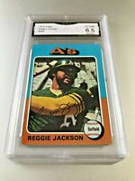 REGGIE JACKSON (HOF) 1975 Topps #300 GMA Graded 6.5 EX-NM+