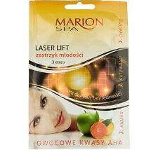 MARION SPA LASER LIFT IN 3 STEPS SCRUB ACTIVATOR LIFTING MASK FACEACID AHA