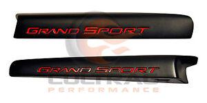 2010-2013 Chevrolet C6 Corvette Genuine GM Black Grand Sport Fender Emblem Set
