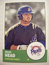MILES HEAD 2012 Topps Heritage Minors baseball card #70 FAYETTEVILLE GRIFFIN GA