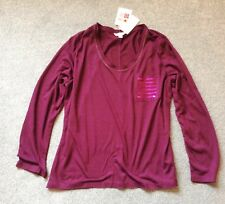 Pretty Secrets @ Simply Be Size 12 / 14 Berry Long Sleeve Sequin Pocket PJ Top