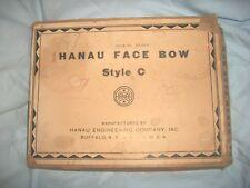 VINT ANTIQUE DENTIST TOOL IN ORIG BOX  HANAU FACE BOW PLUS BOOKLETS STYLE C