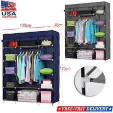 Heavy Duty Portable Closet Storage Organizer Clothes Shelf Wardrobe Rack Shelves