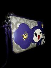 RARE Coach Ltd Ed Poppy Chan Violette Op Art C Large Capacity Purse Bag Wristlet