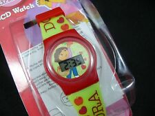 Dora the Explorer Kids' DTE710G Green and Red LCD Digital Watch girl's