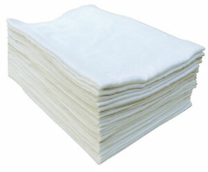 10x White Muslin Squares Baby Muslins Cloths Nappy Inserts 100% Cotton Bibs 70cm