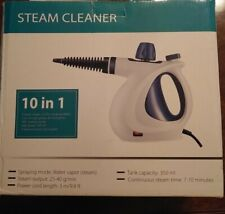 LAMBOW 10 in 1 Pressurized Handheld Steam Cleaner with Cleaning Attachments