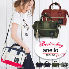 Japan ANELLO Handle Polyester Canvas Shoulder Boston Handbag Campus Mini Bag