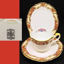 Royal Paragon 1933-34 Rd No 744170 Oval Vintage English Bone China Trio Set RARE