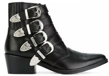 Toga Pulla Black Buckle Ankle Boots Flawless Condition