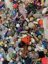 Job Lot Gemstone Bead 80g+ Pearl Quartz Emerald Amethyst Glass Haematite Opal