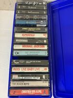 Lot of 15 Male Music Cassettes - jim croce, kenny rogers, rick springfield