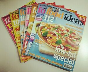 7 x SUPER FOOD IDEAS MAGAZINES - 2002