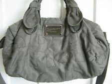 MARC JACOBS QUILTED NYLON ELIZA BABY DIAPER BAG TOTE TAUPE