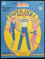GREAT SHAPE BARBIE Paper Doll Book, Whitman 1985, Uncut