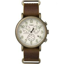 TIMEX Men's watch TW2P85300 Weekender Chronograph Antique w/ leather strap
