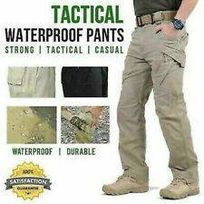 Soldier Tactical Waterproof Pants Mens Cargo Casual Pants Combat Hiking Outdoor