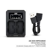 USB Dual Battery Charger fits Sony NP-FZ100 fr Sony A7 III A7R IV III A9II A6600