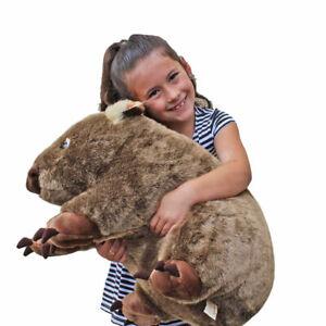 """Wombat Soft plush toy Extra Large 22""""/55cm WAYNE by Minkplush NEW"""
