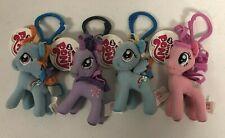 "MLP Rainbow Dash + Pinkie Pie + Twilight Sparkle - Lot of 4 Plush 3"" Clip NWT"