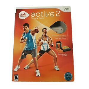 EA Sports Wii active 2 personal trainer bonus weights included Brand New